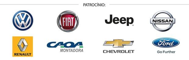 Patrocinadores do Qual Comprar 2017 (Foto: Autoesporte)