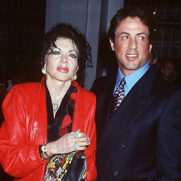 Jackie com o filho em 1997 (Foto: Getty IMages)