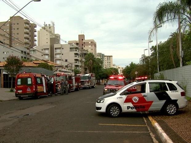 Princiípio de incêndio mobilizou bombeiros em Ribeirão Preto, SP (Foto: Valdinei Malaguti/EPTV)