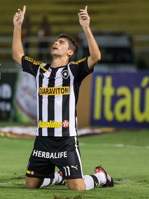 Rafael Marques Fellype Gabriel gol Botafogox Santos (Foto: Celso Pupo / Ag. Estado)