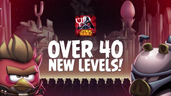 Atualização gratuita Rise of Clones de Angry Birds Star Wars 2 traz mais de 40 novas fases (Foto: Reprodução: YouTube) (Foto: Atualização gratuita Rise of Clones de Angry Birds Star Wars 2 traz mais de 40 novas fases (Foto: Reprodução: YouTube))