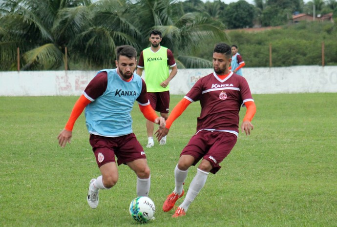 América-RN - Elias - Raphael Toledo - Rômulo (Foto: Canindé Pereira/Divulgação)