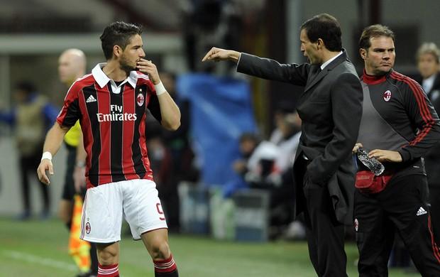 Allegri e Pato Milan (Foto: Getty Images)