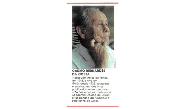 Carmo Bernardes da Costa (Foto: Editora Globo)