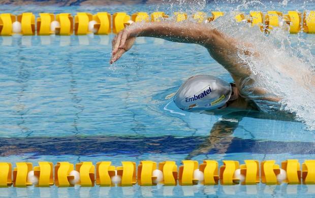 Natação Maria Lenk Cesar Cielo 100m livre (Foto: Satiro Sodré/AGIF)
