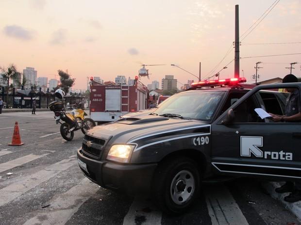 Policiais da Rota também atuam na investigação de crimes (Foto: Paulo Toledo Piza/ G1)