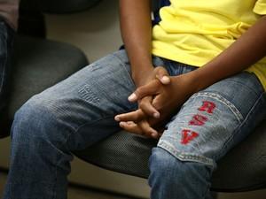 Criança foi encaminhada para o IML (Foto: Jonathan Lins/G1)