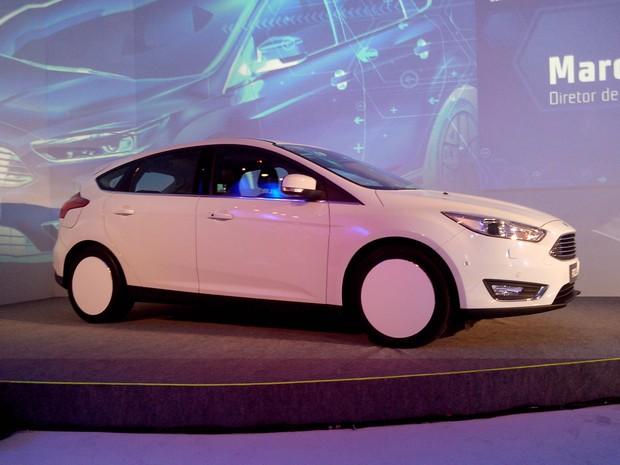 Ford mostrou versão atualizada do Focus no Brasil (Foto: Peter Fussy / G1)