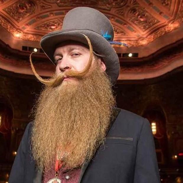 Scott Metts, de Orlando, levou o título de barba natural com bigode estiloso (Foto: Reprodução/Facebook/Scott Metts)