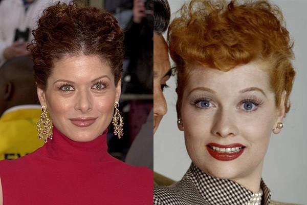 Não tem como não se surpreender com as semelhanças entre Debra Messing, a Grace de 'Will & Grace', e a diva da comédia, Lucille Ball, de 'I Love Lucy'. Bem que Debra podia interpretar Lucille em um filme biográfico, não? (Foto: Getty Images)