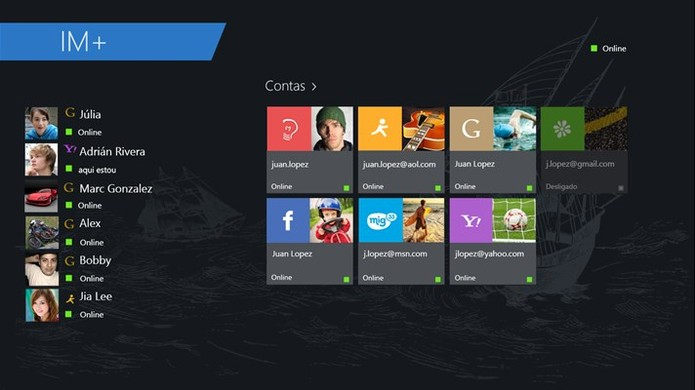 IM+ reúne diversos serviços de mensagens em um só no Windows 10 (Foto: Divulgação/Windows Store)