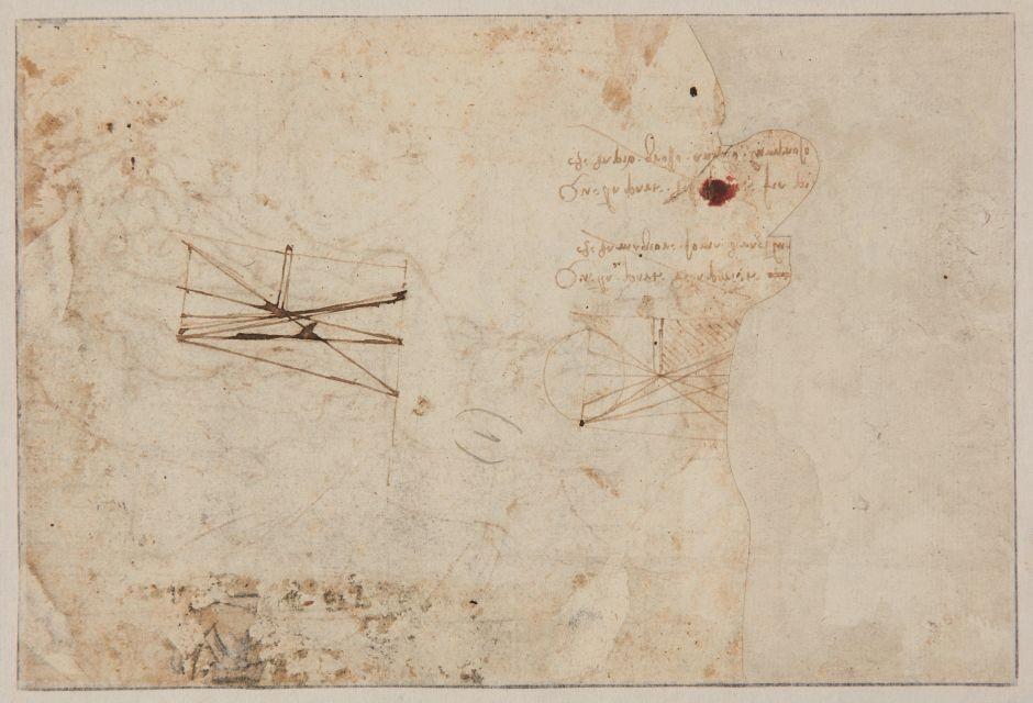 Verso do desenho com o esboço de São Sebastião (Foto: Reprodução/ Tarjan)