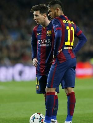 Messi e Neymar Barcelona x Manchester City