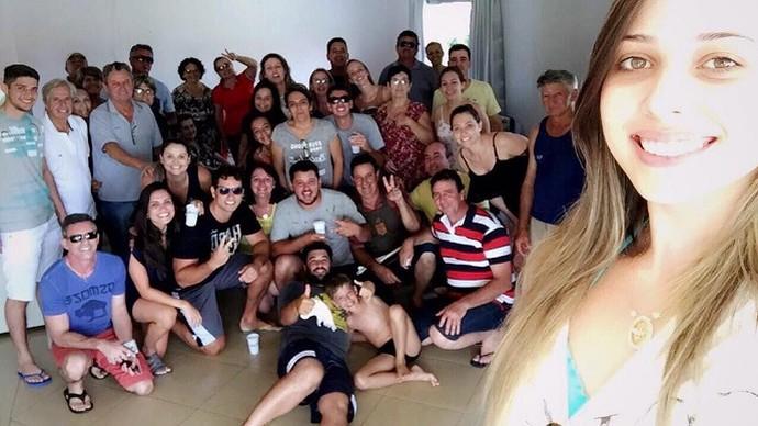 O ano-novo foi passado com os Ambrósio, em uma pequena cidade do Paraná (Foto: Arquivo pessoal)