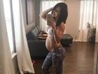Bella Falconi comemora 27 semanas de gravidez
