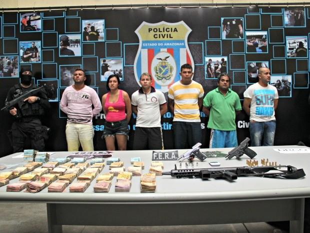 Polícia Civil conseguiu prender grupo de supostos traficantes aliados de João Branco (Foto: Adneison Severiano/G1 AM)