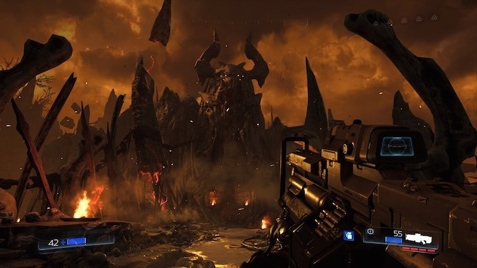 Doom tem animações tecnicamente perfeitas (Foto: Reprodução/Victor Teixeira)