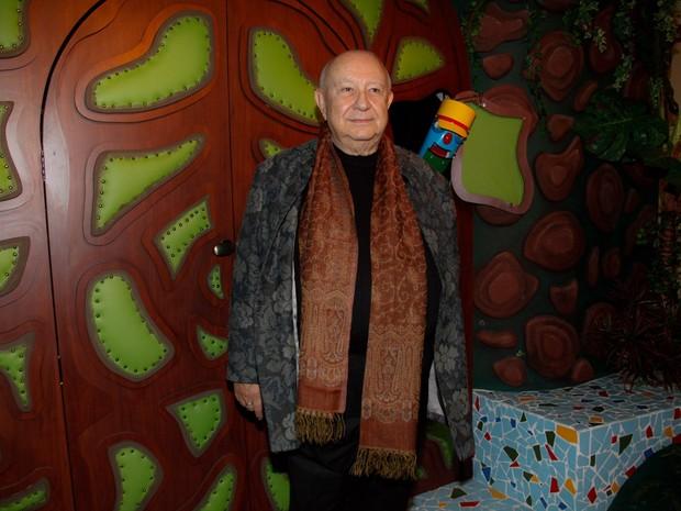 Sérgio Mamberti em exposição em São Paulo (Foto: Marcos Ribas/ Foto Rio News)