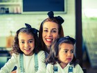 Tania Khalill grava piloto de programa para a TV com as filhas