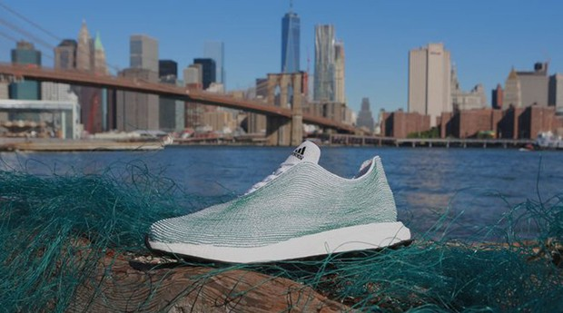 Adidas: tênis feito com resíduos dos oceanos (Foto: Divulgação/Adidas)