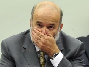 O tesoureiro do PT, João Vaccari Neto, é interrogado por parlamentares na CPI da Petrobras na Câmara dos Deputados, em Brasília (Foto: Luis Macedo/Câmara dos Deputados)