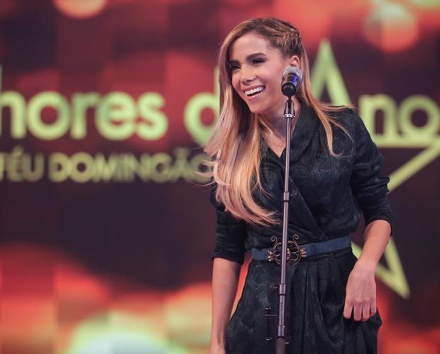 Ela mostrou a irreverência de sempre no programa (Foto: Pedro Curi / TV Globo)