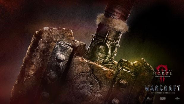 Cartaz do filme 'Warcraft' inspirado no game da Blizzard de mesmo nome; longa chega aos cinemas em março de 2016. (Foto: Divulgação/Blizzard)