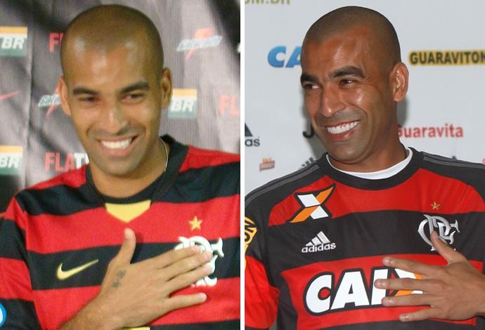 Apresentação Emerson Flamengo 2009 / 2015 (Foto: Montagem sobre foto da Ag. Estado)