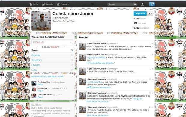 Constantino Júnior - Santa Cruz (Foto: Reprodução/Twitter)