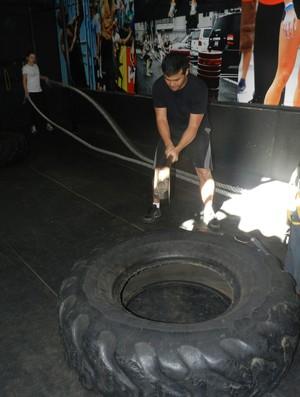 Crossfit em Uberlândia (Foto: Caroline Aleixo/GLOBOESPORTE.COM)