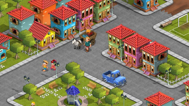 Vila da Abrobinha, um dos cenários que os jogadores poderão realizar missões no jogo do Chico Bento (Foto: Divulgação)