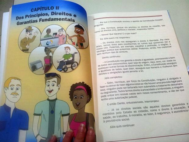 Constituição em Miúdos, Constituição Federal, Pouso Alegre, livro (Foto: Daniela Ayres/ G1)