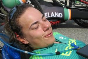 Descrição da imagem: Jady Malavazzi se emocionou ao falar de batida em prova do ciclismo (Foto: Felipe Siqueira)