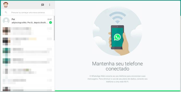 Acesse o WhatsApp Web no computador (Foto: Reprodução/Helito Bijora)