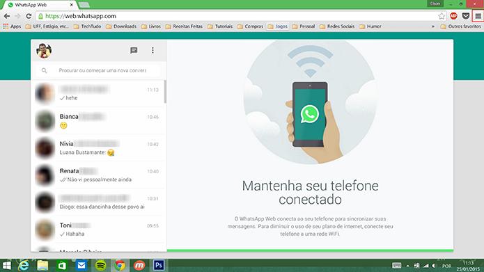 WhatsApp Web pode ser fixado na barra de tarefas do Windows em poucos passos (Foto: Reprodução/Elson de Souza)