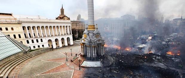 Antes e depois de praça em Kiev fez sucesso na web (Foto: Reprodução/Imgur/ONotkiL)