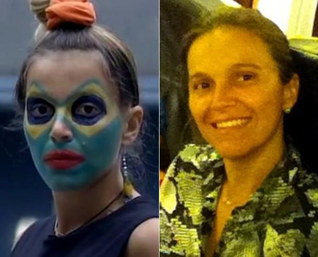 Tina no BBB4 e agora (Foto: Big Brother Brasil e Arquivo pessoal)