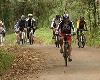 Passeio Ciclístico no Parque Nacional do Itatiaia (Foto: Reprodução RJTV 1ª Edição)