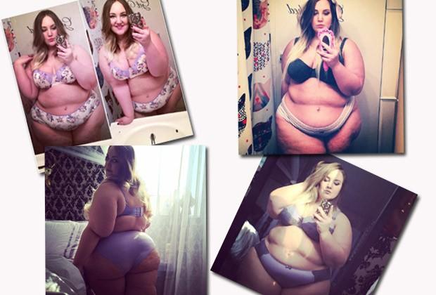 Mais autofotos da americana: com apoio de seguidores, ela continuou a publicar fotos após os sete dias de desafio (Foto: Reprodução / Instagram)