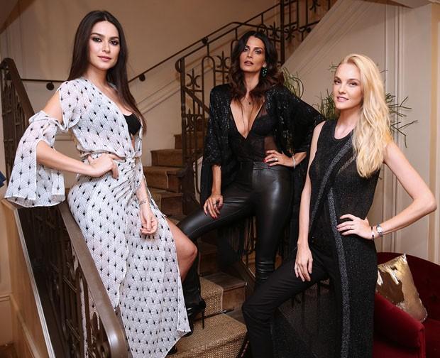 Thaila, Fernanda e Carol: moda em São Paulo (Foto: Brazil News)
