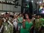 Camila Silva celebra título da Mocidade com festa na quadra