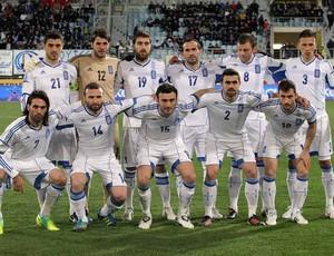 Grécia  Seleção Euro -  09/02/2012 (Foto: Agência AFP)