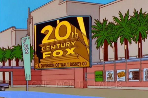 A animação fez referência a venda da 20th Century Fox na 10ª temporada, em 1998 (Foto: Reprodução)