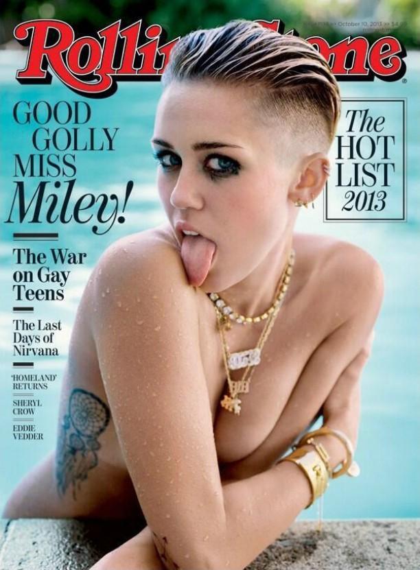 Miley Cyrus na 'Rolling Stone' de 10 de outubro de 2013. (Foto: Reprodução)