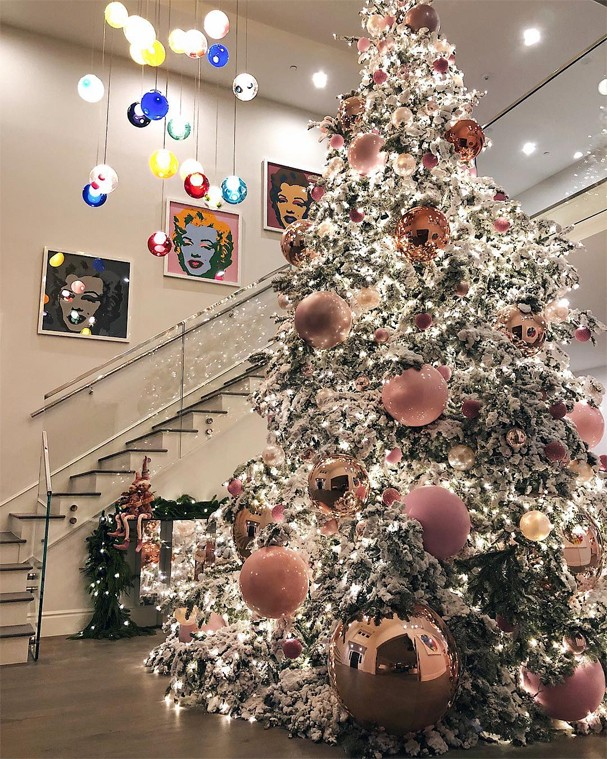 Árvore de Natal de Kylie Jenner (Foto: Instagram/Reprodução)