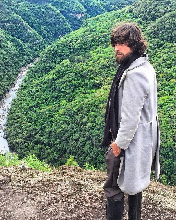 Marcos Pitombo caracterizado para novo filme (Foto: Reprodução/Instagram)