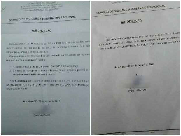 Autorização para entrada de materiais dentro da unidade foi assinada na no dia 27 de janeiro (Foto: Arquivo pessoal)