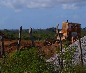 Obras foram retomadas (Foto: Reprodução/Inter TV Cabugi)