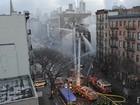 Bombeiros buscam possíveis desaparecidos após explosão em NY