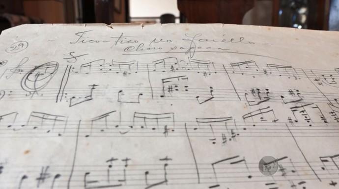 """Originalmente, a música """"Tico-Tico no Fubá"""" de Zequinha de Abreu chamava-se """"Tico-Tico no Farelo"""" (Foto: reprodução EPTV)"""